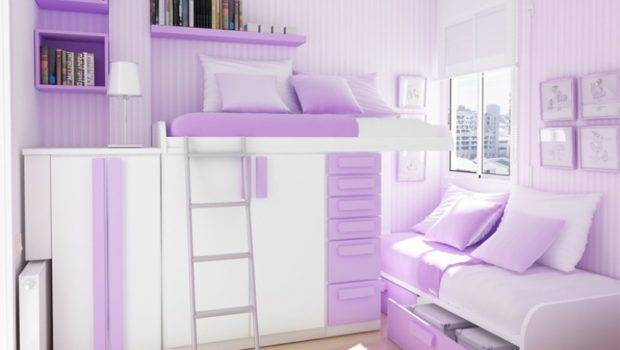 Teenage Girl Bedroom Amazing Rooms Purple Bunk Bed