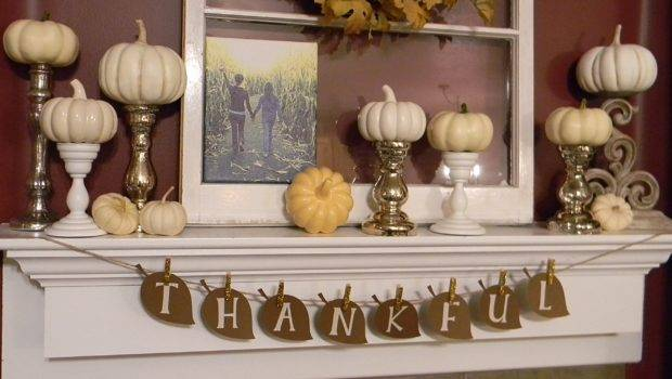 Thanksgiving Mantle Decoration Ideas Buntings Home Seasons