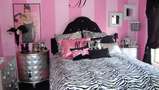 Theme Pink Black White Silver Themed Tween Girls Bedroom Just