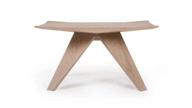 Thin Side Table Shown White Oiled Oak