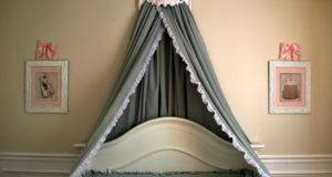 Think Diy Bed Crown Canopy Tutorial