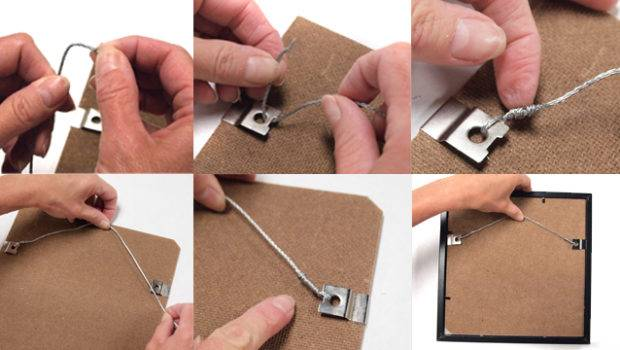 Threading Securing Wire Clips Back