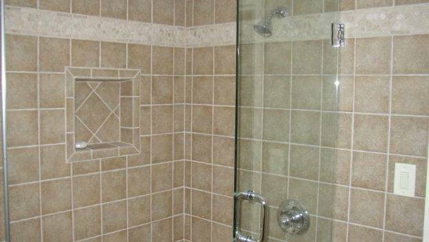 Tile Shower Designs Ideas Shelves