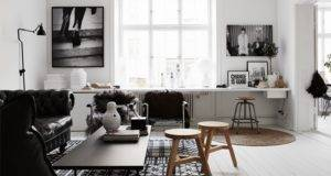 Timeless Black White Apartment Its Own Personality Digsdigs