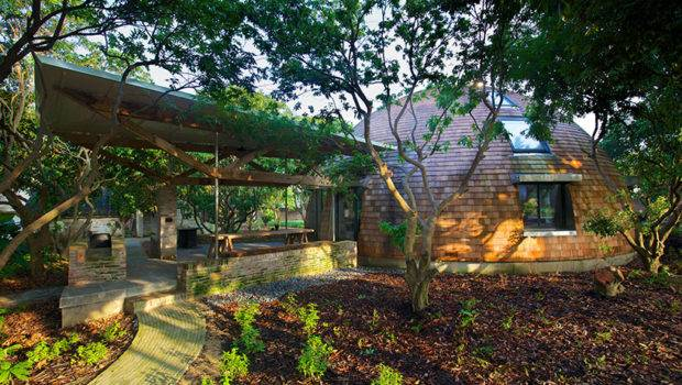 Timothy Oulton Erects Dome Home Reclaimed Material