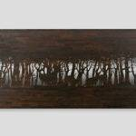 Tin Inlay Table Draw Deers Woods Top