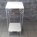 Tin Steel Accent Table Sold Small