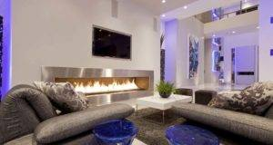 Top Modern Living Room Fireplace Design