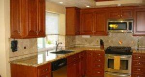 Top Wall Color Kitchen Oak Cabinets