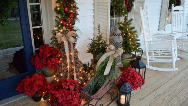Touch Charm Bring Ambiance Christmas Porch
