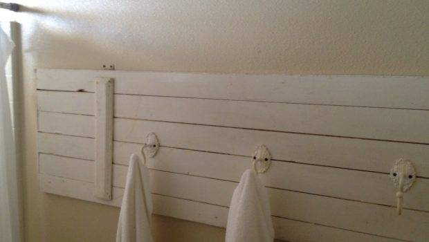 Towel Rack Hooks Used Hold Towels Bought Garage