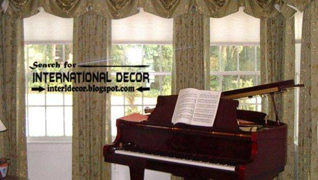 Tradition Living Room Curtain Styles Window Treatments Designs