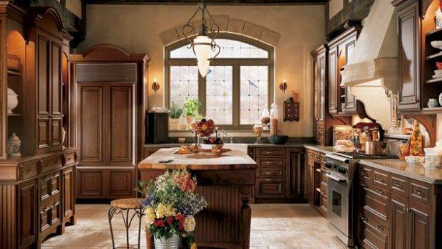 Traditional English Kitchen Design Wood Mode Small