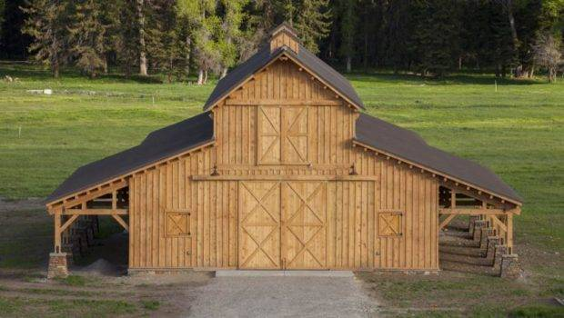 Traditional Wood Barn Great Plains Western Horse Project Bha