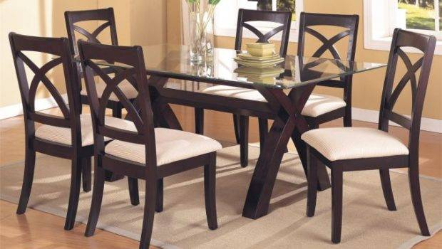 Traditional Wooden Table Glass One Dining