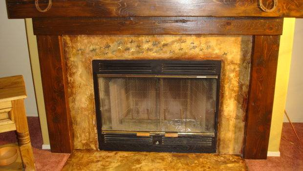 Transforming Fireplace Wall Faux Finishes Heiroglyphics