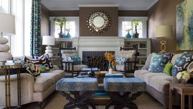Transitional Style Living Space
