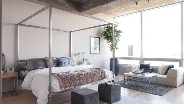 Trendy Bedroom Contemporary Four Poster Bed