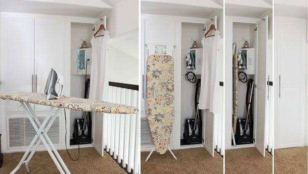 Tricked Out Ironing Closet Maximize Small Space