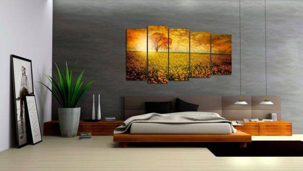 Triptych Modern Type Interior Design Paintings