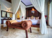 Tropical Luxury Bedroom Canopy Bed White Curtains Designing