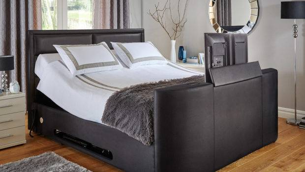 Truscott Black Bonded Leather Bed Frame