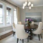 Tufted Dining Chairs Transitional Room Ashley Goforth Design