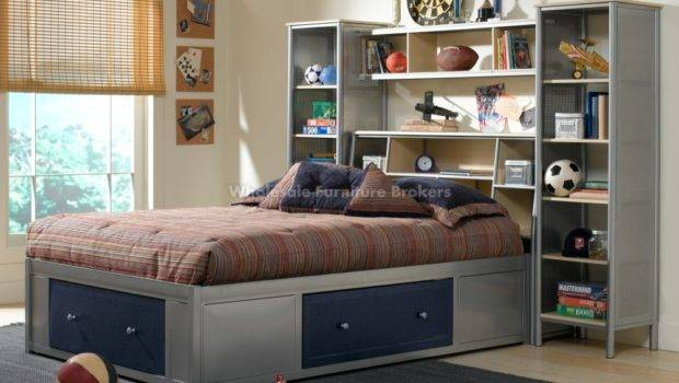 Twin Bed Storage Bookcase Headboard Home Decorating Ideas