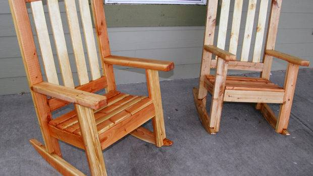 Two Bild Plans Built Porch Rocking Chairs Scooter Mcclain