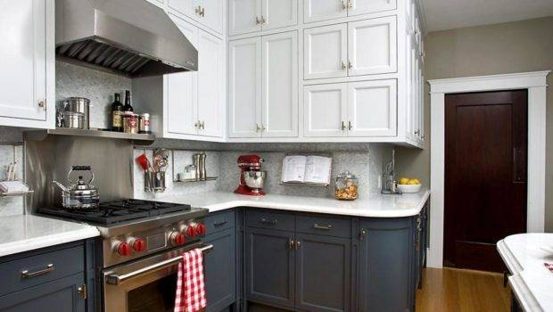 Two Toned Kitchen Cabinets Options Tips Ideas