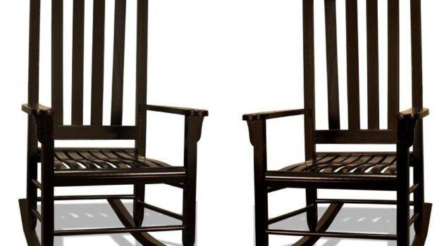 Two Tortuga Outdoor Furniture Trc Black Wood Traditional Rocking