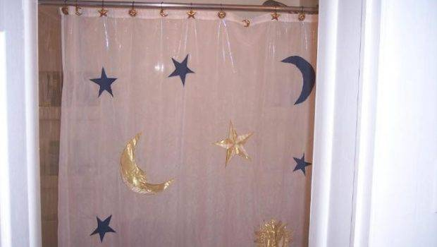 Ugly Shower Curtain Moon Stars Hagerstown Maryland Home House Real