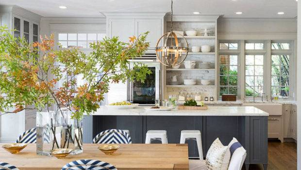 Ultimate Gray Kitchen Design Ideas Dining Room Opens
