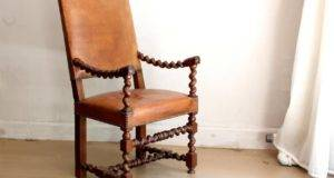Unique Barley Twist Leather Chair Sale Stdibs