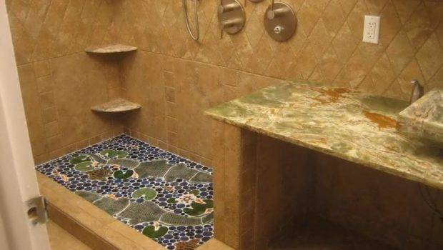 Unique Bathroom Floor Tiles Furniture Ideas