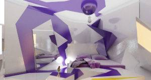 Unique Idea Purple White Bedroom Fun Interiordecodir