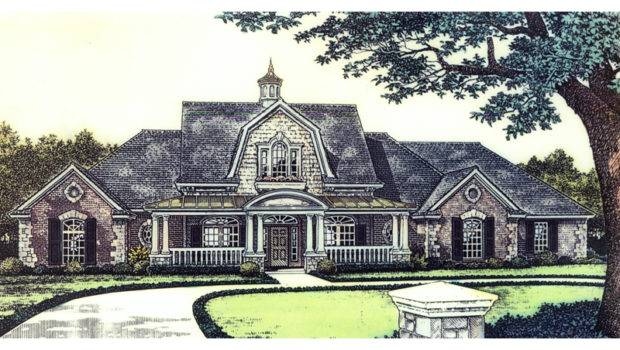 Unique Luxury Farmhouse Style Two Story House Cupola Roof