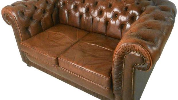 Unique Mid Century Modern Style Tufted Leather