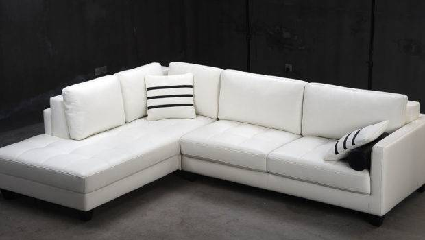 Unique Shaped Sectional Sofas White Leather