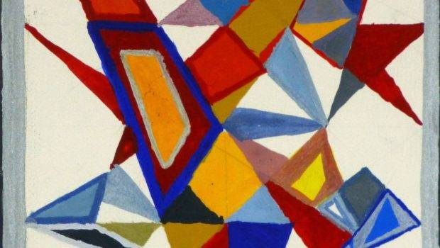 Unknown Geometric Shapes Abstract Painting