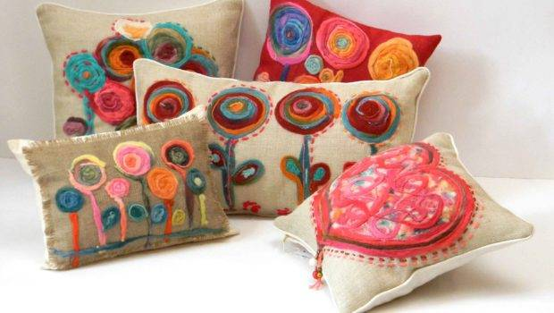 Unnique Flower Pillows Sofa Ideas Another Decoration