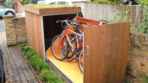 Upgrading Bike Storage Possibilities Modern Outdoor Garage