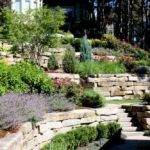 Using Staggered Rock Walls Creates Beautiful Hillside Landscape