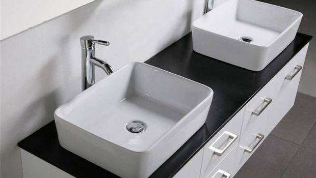 Vanity Unit Glass Top Wall Hung Cabinet New Counter Basins