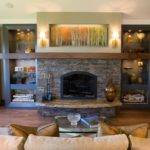 Various Ideas Stacked Stone Fireplace Based Your