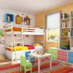 Various Style Cool Kids Bunk Beds Green Chairs