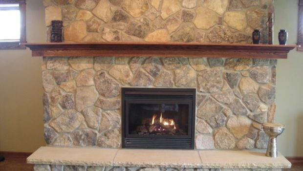 Veneer Fireplace Feature Sandstone Hearth