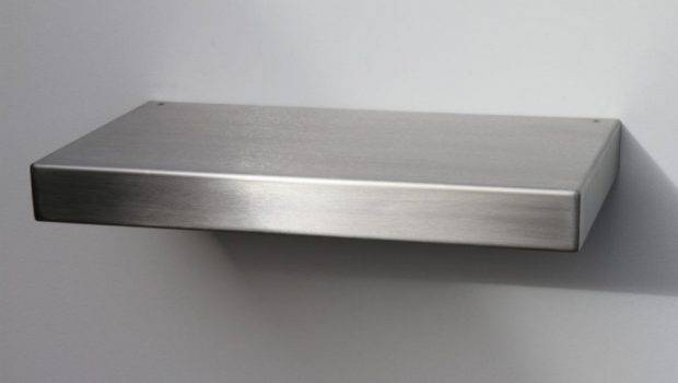Venlo Contemporary Floating Shelf Brushed Stainless Steel