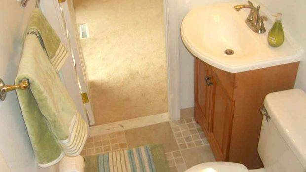 Very Small Bathroom Decor Ideas Brown Wood Low Cabinet Drawer
