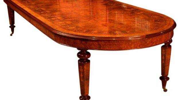 Victorian Style Burr Walnut Marquetry Dining Table Stdibs